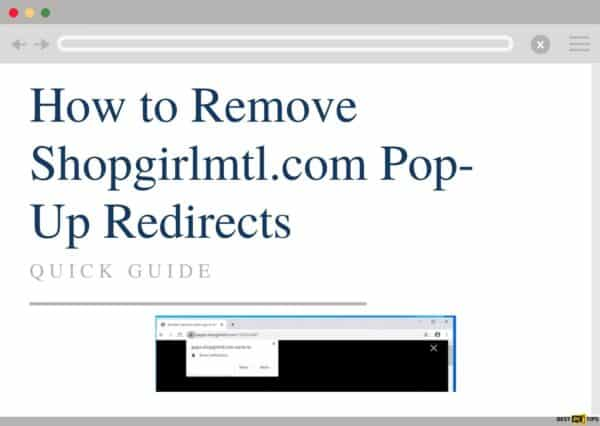 Remove Shopgirlmtl.com redirects