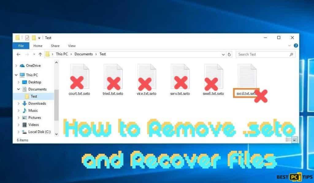 How to Remove .Seto