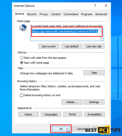 Internet Explorer Homepage
