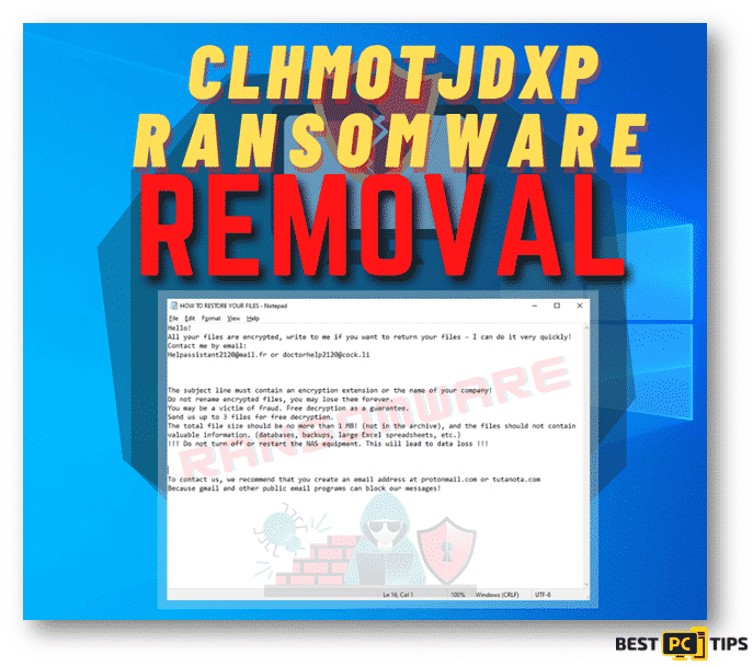 Clhmotjdxp Ransomware Removal