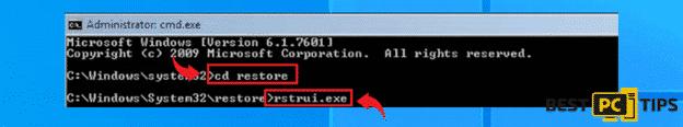 System Restore with CMD