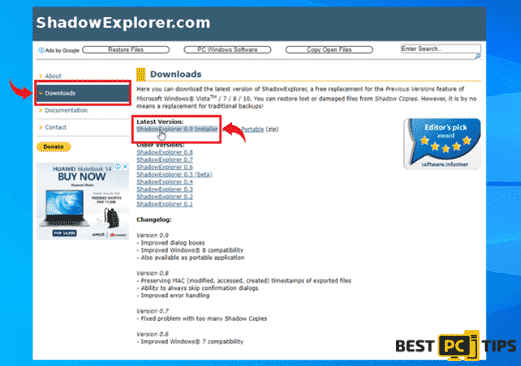 Shadow Explorer Download Page