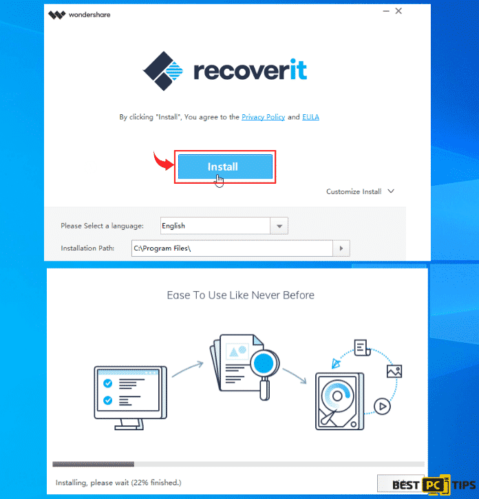 Data Recovery Pro Tool Installation