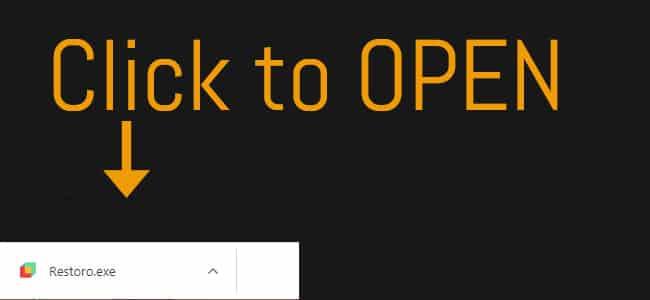 open restoro download
