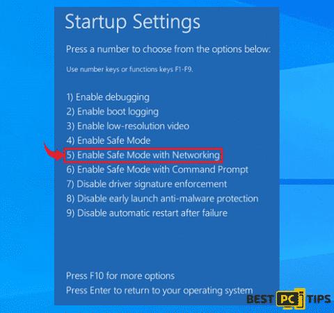 windows 10 safe mode