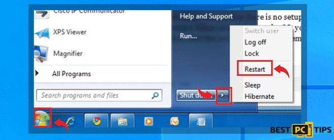 windows reboot