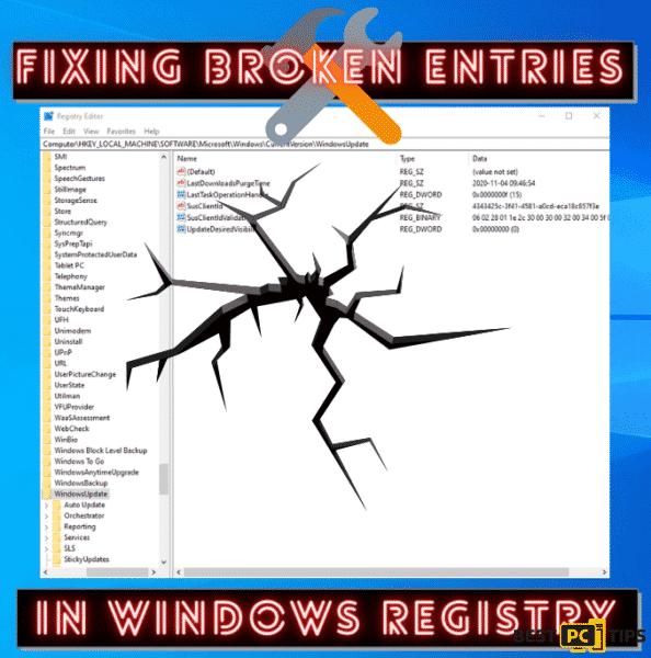 Fixing Broken Entries in Windows Registry