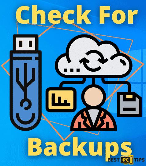 Check for Backups