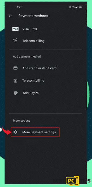 More Payment Options in Play Store