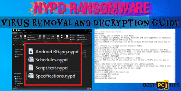 nypd ransomware virus removal and file decryption