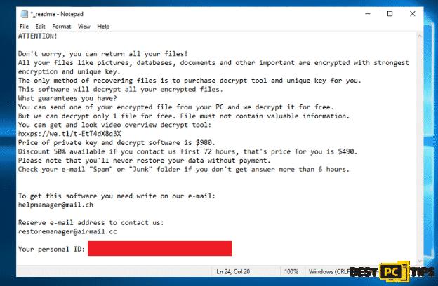 Omfl Ransomware Ransom Note