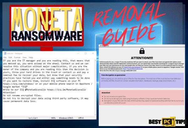 Moneta Ransomware Removal Guide