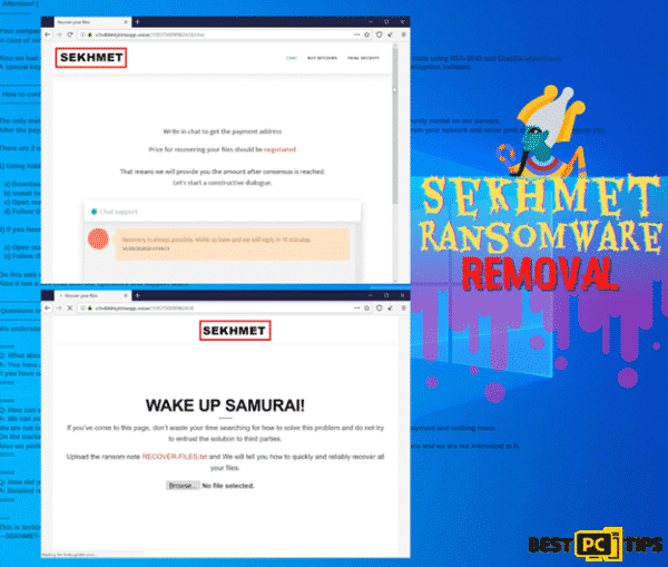 Sekhmet Ransomware Removal