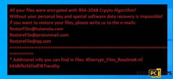 RestorFile Ransomware Wallpaper