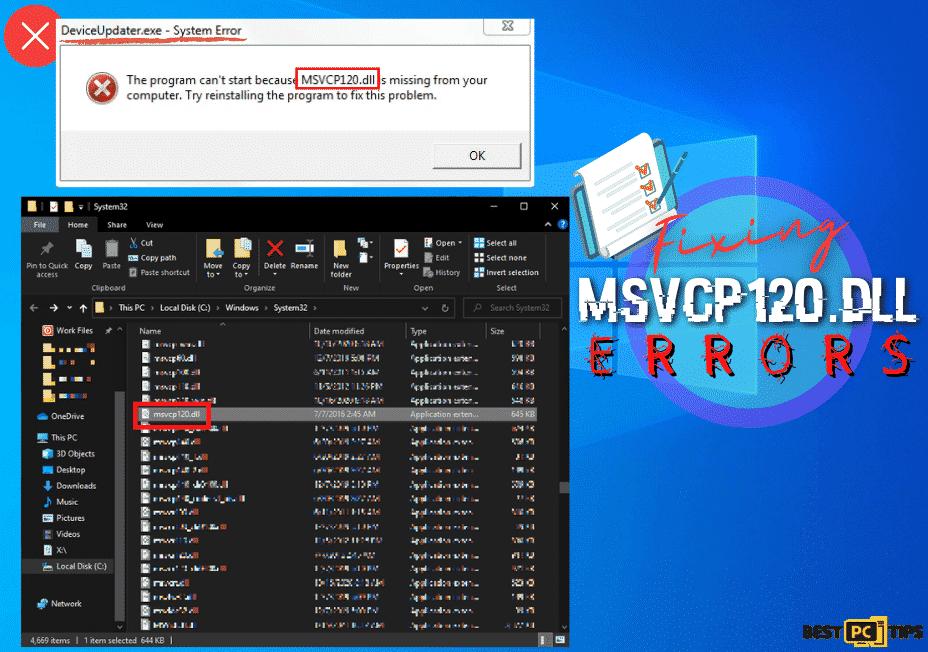 Fixing MSVCP120.dll Errors
