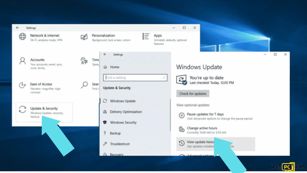settings windows update