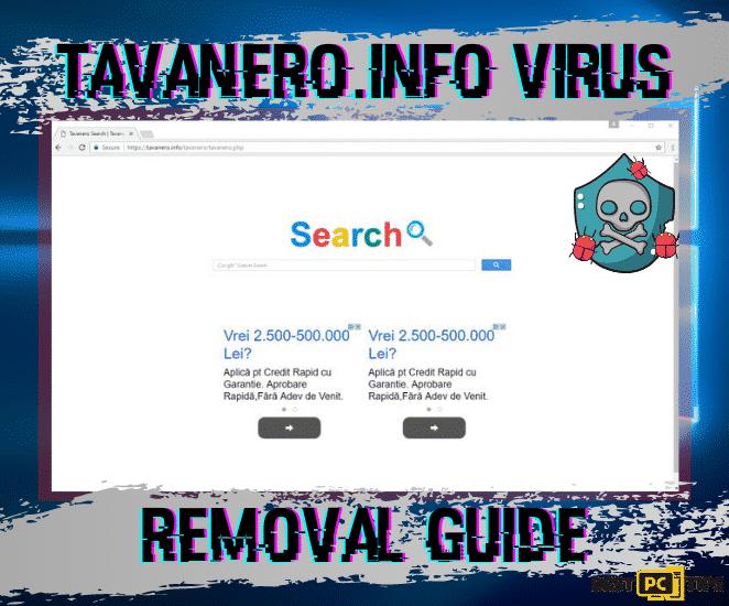 Tavanero.info Virus Removal Guide