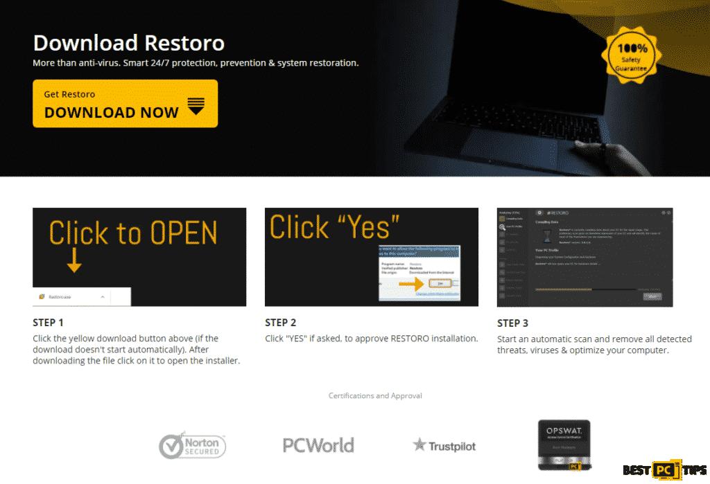 Restoro Download Website