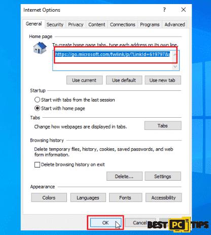 Internet Explorer Home Page