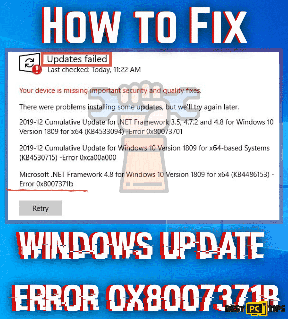 Easy Windows Update Error 0x8007371b Fix