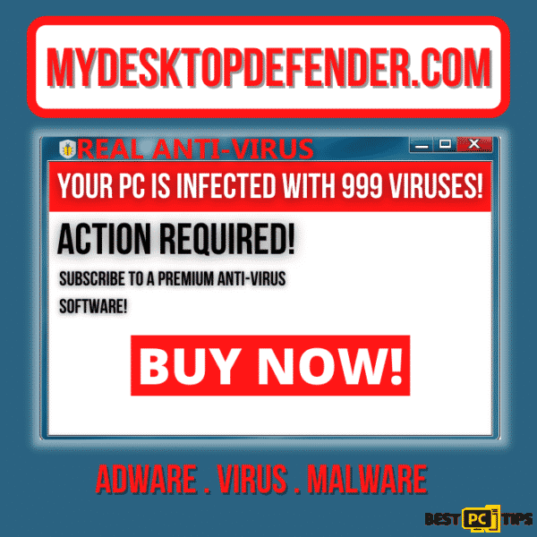 Mydesktopdefender.com Adware