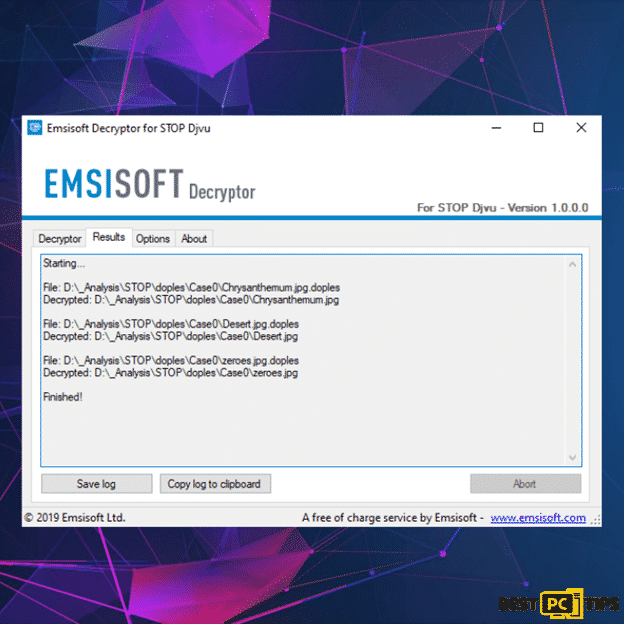 Emsisoft Decryptor