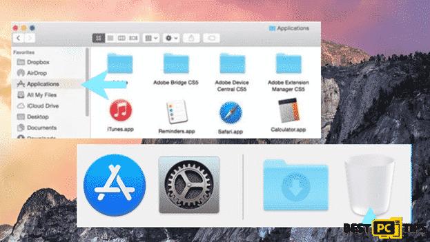 mac applications move to trash bin
