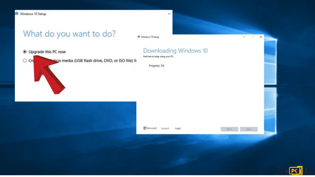 Download Windows to fix the error code 0xe0000100