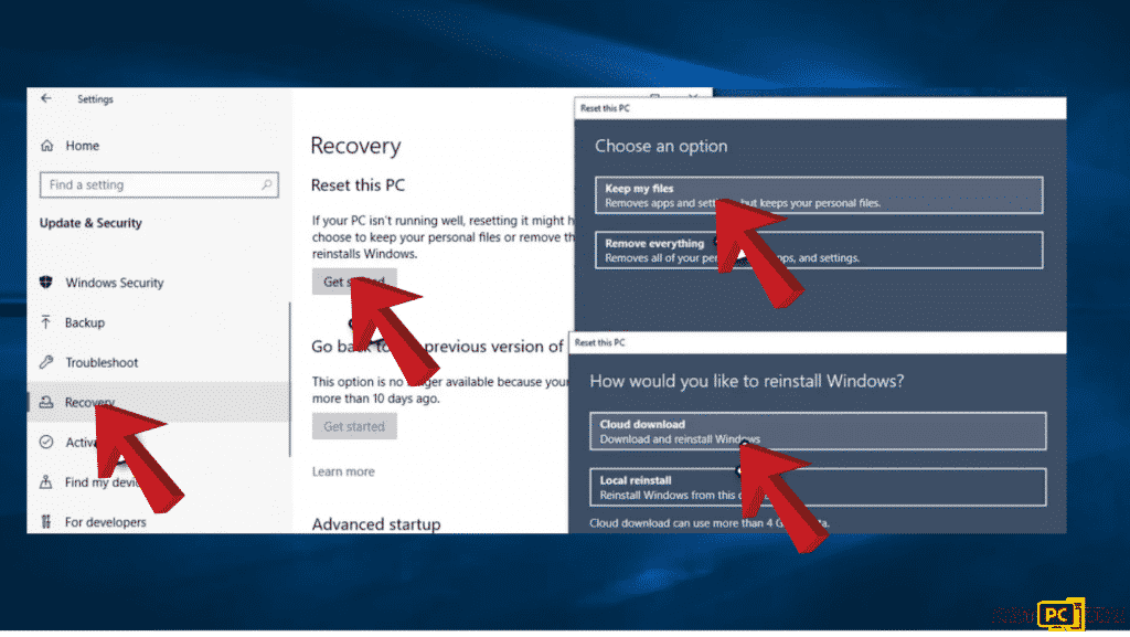 Method six to fix the error code 0xe0000100 in Windows