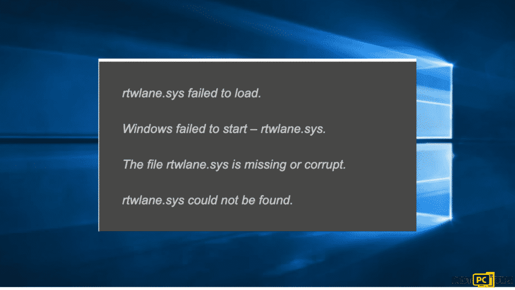 system failed message, know how to fix rtwlane.sys Blue Screen error in Windows