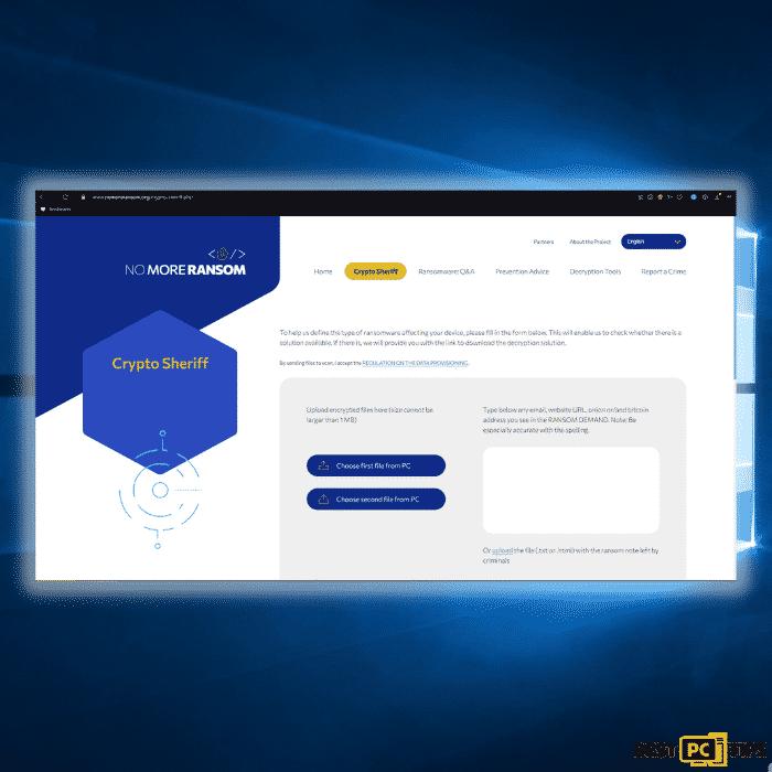 Nomoreransom website