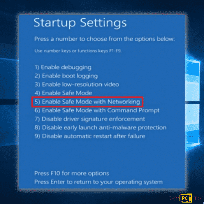 Enable Safemode with Networking